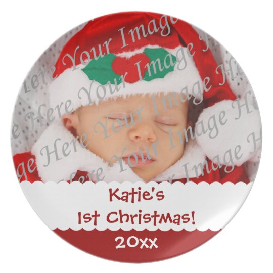 Personalized 1st Christmas Custom Photo Plate
