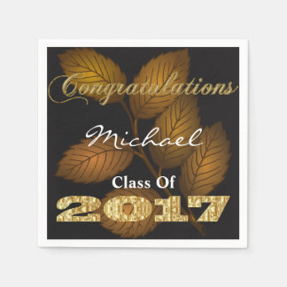 Personalized 2017 Graduation Paper Napkin