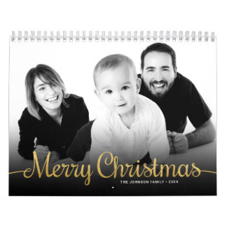 Personalized 2018 Family Photo Merry Christmas Wall Calendar