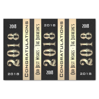 Personalized 2018 w/Your Family Name Graduation Tissue Paper