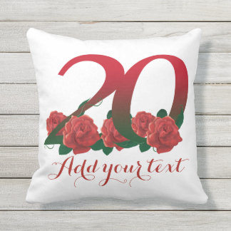 Personalized 20th 20 custom text Pillow