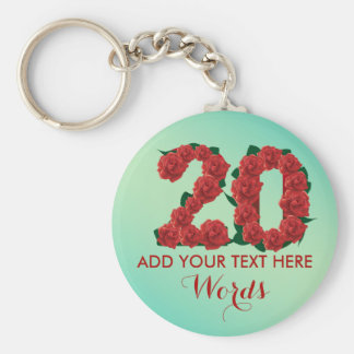 Personalized 20th birthday 20 anniversary Keychain