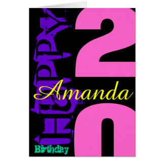 Personalized 20th Birthday POP Greeting Card