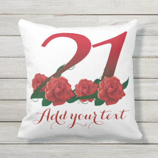 Personalized 21st 21 custom text Pillow