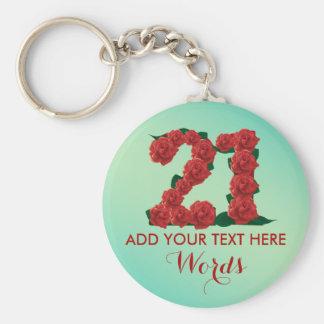 Personalized 21st birthday 21 anniversary Keychain
