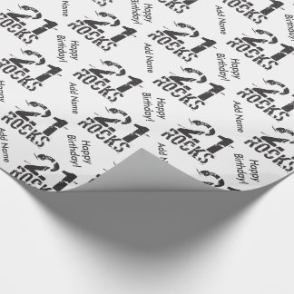 Personalized 21st Birthday - 21 Rocks Wrapping Paper