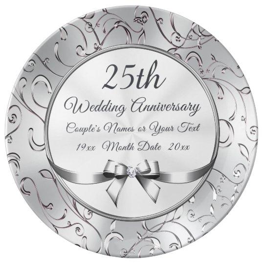 Personalized 25 Year Anniversary Gift Plate Zazzle