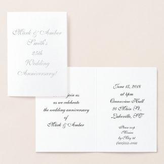 Personalized 25th Anniversary Invitations