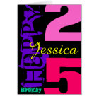 Personalized 25th Birthday POP Greeting Card