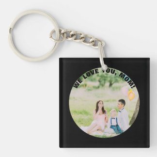 Personalized 2 Photos | For Mom on Mother's Day Double-Sided Square Acrylic Keychain