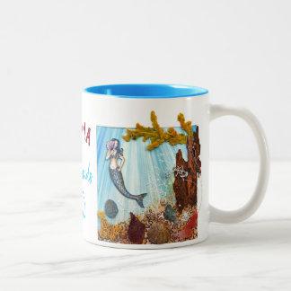 "Personalized 2-tones Mug ""Mermaids are Real"""