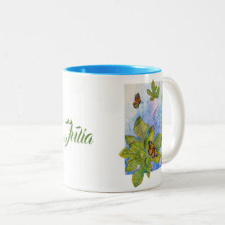 Personalized 2-Tones Mug with Butterflies