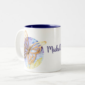 Personalized 2-tones Mug with Butterfly