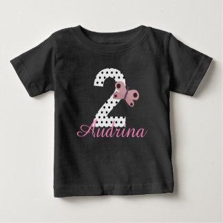 Personalized 2nd Birthday Girls Butterfly Shirt
