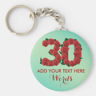 Personalized 30th birthday 30 anniversary Keychain