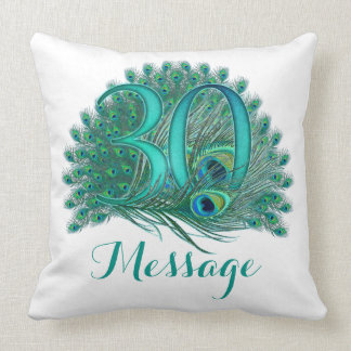 Personalized 30th birthday custom text pillow