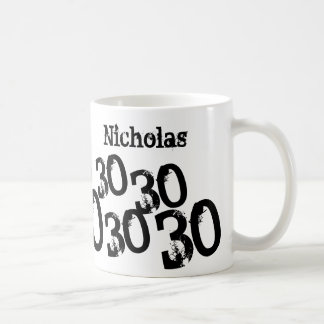 Personalized 30th Birthday Mug Name and Age