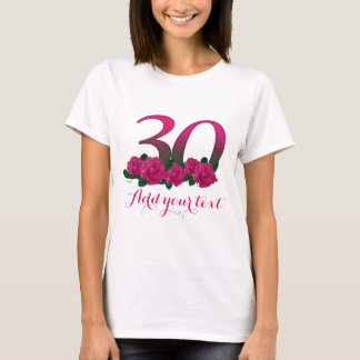 Personalized 30th  customizable 30 template T-Shirt