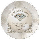 Personalized 30th Wedding Anniversary Gifts Plate