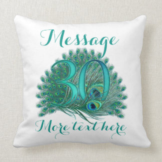 Personalized 30th wedding anniversary text pillow
