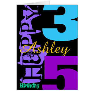 Personalized 35th Birthday POP Greeting Card