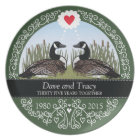 Personalized 35th Wedding Anniversary, Geese Plate