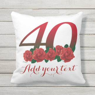 Personalized 40th 40 custom text Pillow