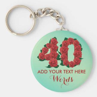 Personalized 40th birthday 40 anniversary Keychain