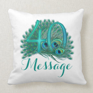 Personalized 40th Birthday add text custom Pillow