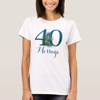Personalized 40th Birthday customized T-shirt