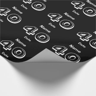 Personalized 40th Birthday Wrapping Paper