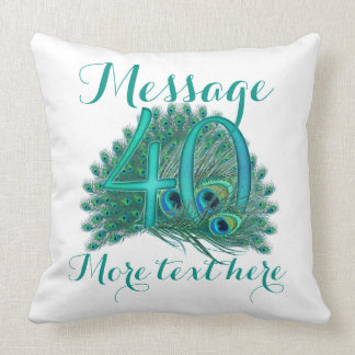 Personalized 40th wedding anniversary Pillow