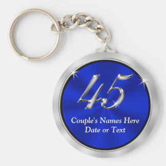 Personalized 45th Anniversary Favors, Keychains