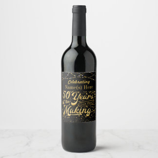 Personalized 50 Years in the Making Wine Label