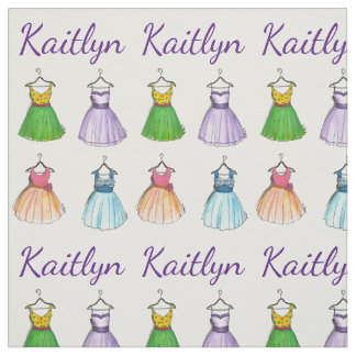 Personalized 50s Vintage Prom Party Dress Fabric