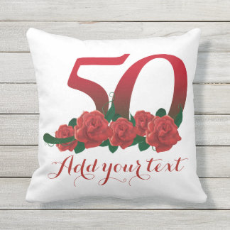 Personalized 50th 50 custom text Pillow