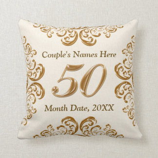 Personalized 50th Anniversary Gifts, Pillow