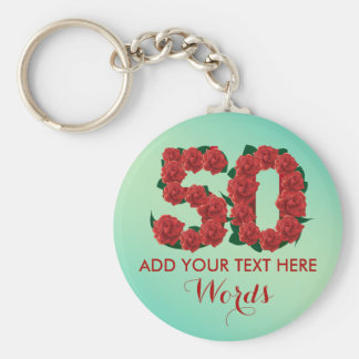 Personalized 50th birthday 50 anniversary Keychain
