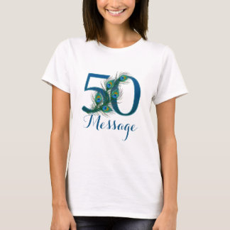Personalized 50th Birthday add name T-shirt