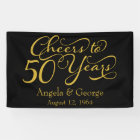 Personalized 50th Golden Wedding Anniversary Banner