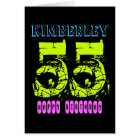 Personalized 55th Birthday Greeting Card