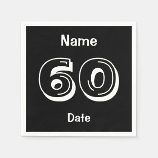 Personalized 60 year old Party 60th Birthday Paper Napkin