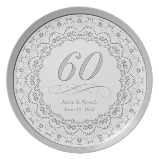 Personalized 60th Anniversary Plate