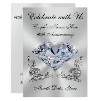 Personalized 60th Wedding Anniversary Invitations