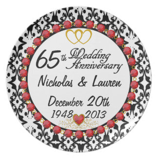 PERSONALIZED 65th Anniversary Display Plate