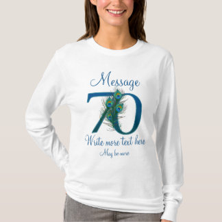 Personalized 70 classy 70th birthday anniversary T-Shirt