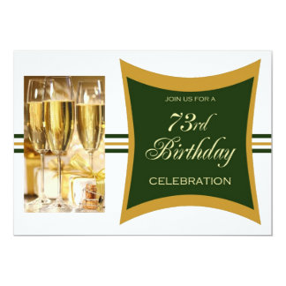 Personalized 73rd Birthday Party Invitations