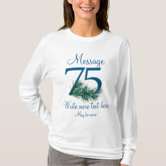 Personalized 75 classy 75th birthday anniversary T-Shirt