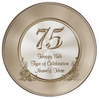 Personalized 75th Birthday Ideas for Mom or Wife Plate