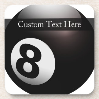 Personalized 8 Ball Billiards Coaster